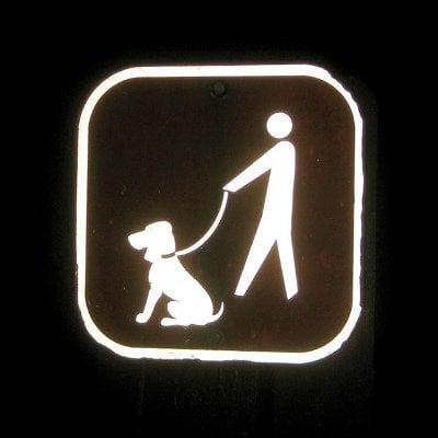 Dog Walking in Heat Sign