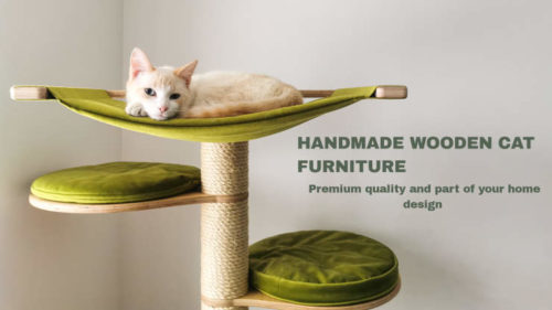 handmade premium wooden cat furniture from KadeCat